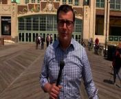 New Jersey is opening up its economy by lifting most curfews and capacity restrictions at restaurants and other businesses on May 19. NJ Governor Phil Murphy said the state also plans to offer a free beer to anyone over the age of 21 who shows their completed CDC vaccination card at thirteen participating breweries throughout the state. CNN's Miguel Marquez is live from Asbury Park with the latest.